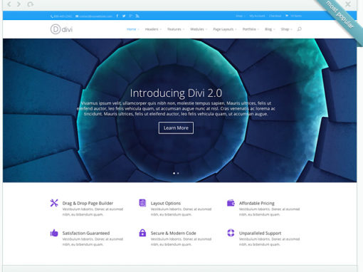 Divi – The multifaceted Template